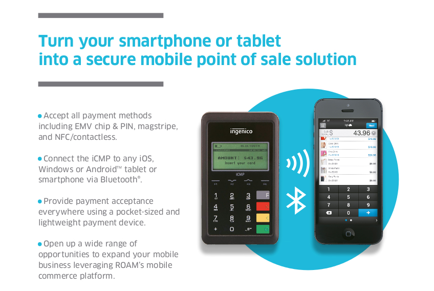 Icmp secure mobile point of sale solution ss bankcard systems icmp mobile card reader reheart